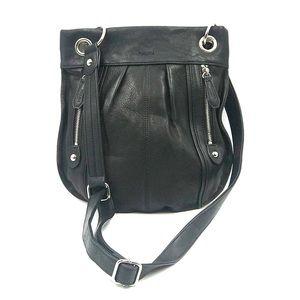 Perlina Black Anna Bucket Crossbody Bag
